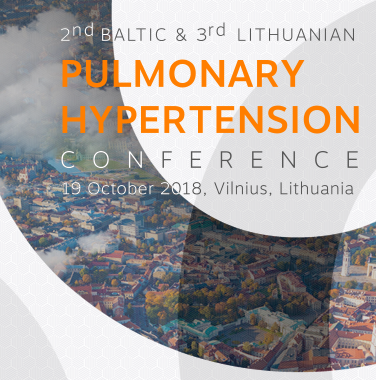 2nd Baltic & 3rd Lithuanian Pulmonary Hypertension Conference, 2018-10-19, Vilnius